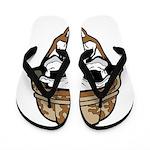Army Skeleton Flip Flops