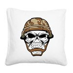 Army Skeleton Square Canvas Pillow