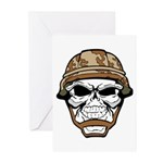 Army Skeleton Greeting Cards