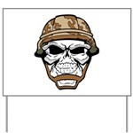 Army Skeleton Yard Sign