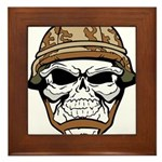Army Skeleton Framed Tile