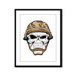Army Skeleton Framed Panel Print