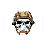 Army Skeleton Wall Decal