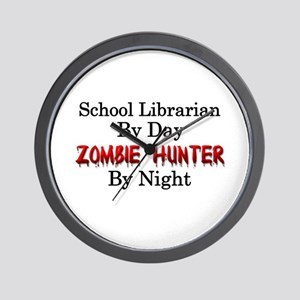 School Librarian/Zombie Hunter Wall Clock
