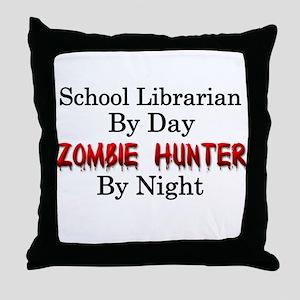 School Librarian/Zombie Hunter Throw Pillow