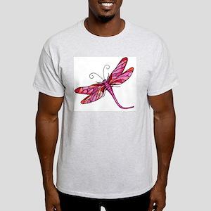 Red Dragonfly Design Light T-Shirt