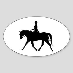 Horse Rider Oval Sticker
