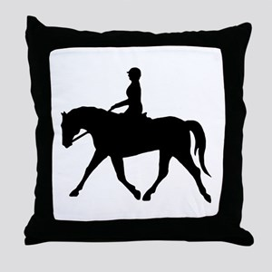 Horse Rider Throw Pillow