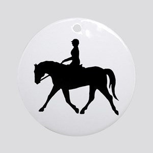 Horse Rider Ornament (Round)