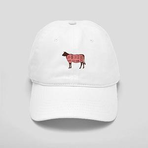 Cow Meat Cuts Diagram Baseball Cap