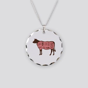 Cow Meat Cuts Diagram Necklace