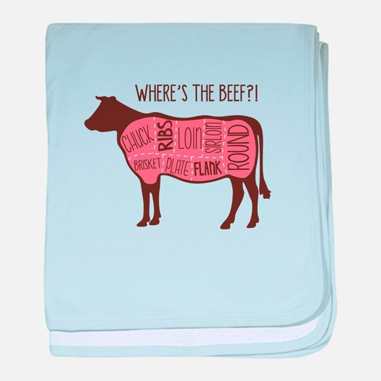 WHERES THE BEEF?! baby blanket