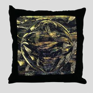 Dark Aluminum Sphere Throw Pillow