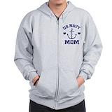 Navy mom Zip Hoodie