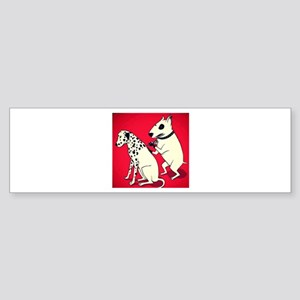Dalmatian Getting Some Ink Bumper Sticker