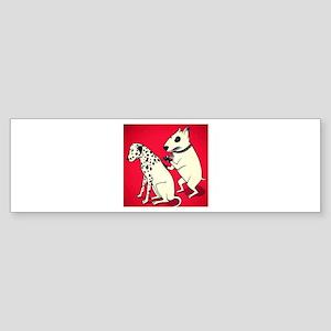Dalmatian Getting Some Ink Bumper Sticker