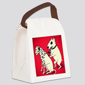 Dalmatian Getting Some Ink Canvas Lunch Bag