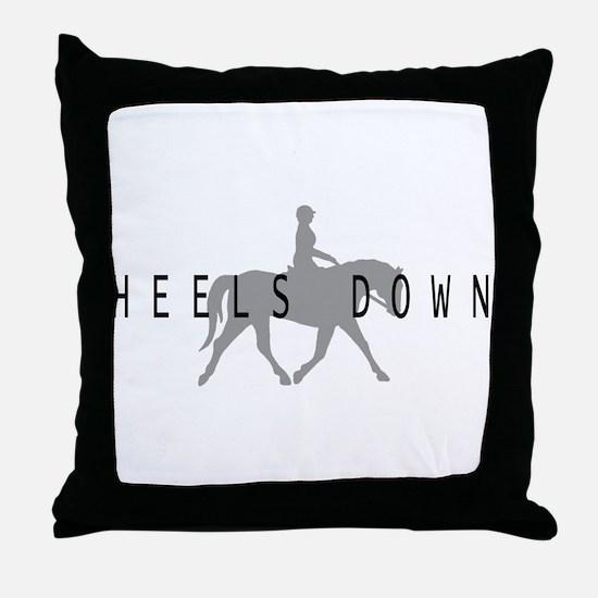 Heels Down Flat Rider Throw Pillow