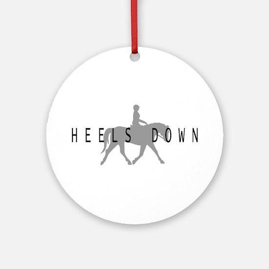 Heels Down Flat Rider Ornament (Round)