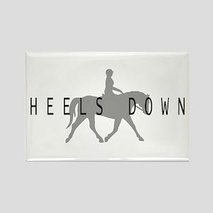 Heels Down Flat Rider Rectangle Magnet