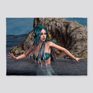 Blue Mermaid 5'x7'Area Rug
