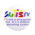 "Autism - Its not a processing error 3.5"" Button"