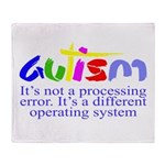 Autism - Its not a processing error Throw Blanket