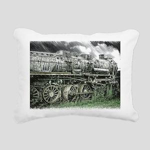 Old Locomotive Rectangular Canvas Pillow