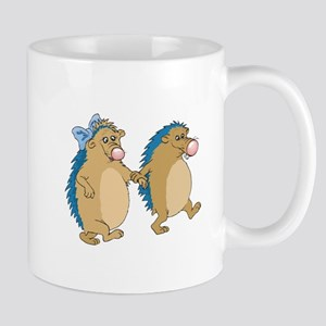 Cute Porcupines In Love Mug