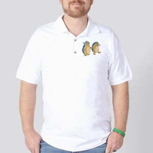Cute Porcupines In Love Golf Shirt