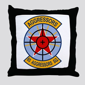 65th Aggressor Squadrons Throw Pillow