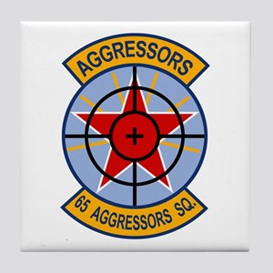 65th Aggressor Squadrons Tile Coaster