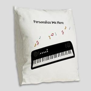 Personalized Keyboard Burlap Throw Pillow