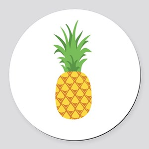 Pineapple Fruit Round Car Magnet