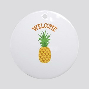 Welcome Ornament (Round)