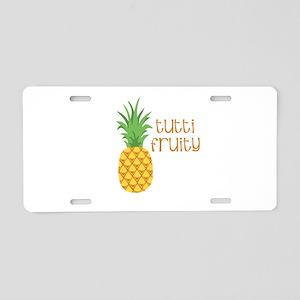 Tutti Fruity Aluminum License Plate