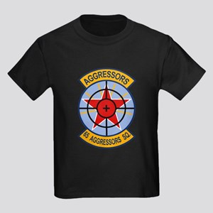 65th Aggressor Squadrons Kids Dark T-Shirt
