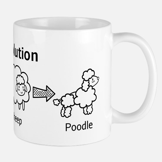 Funny evolution of cloud into sheep and poodle Mug