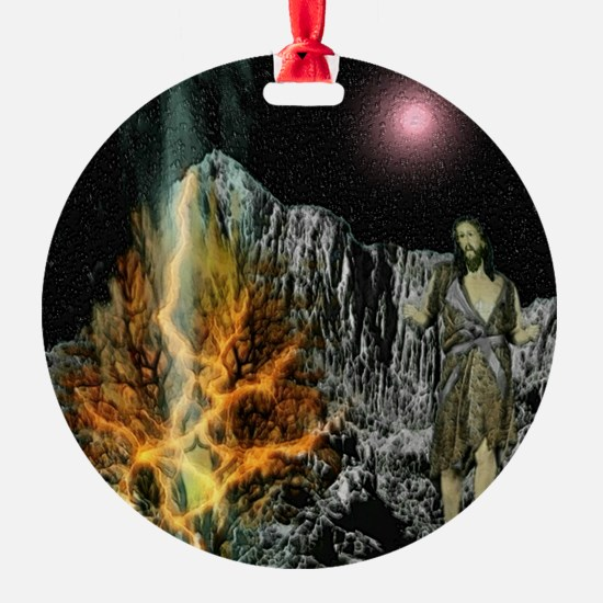 Moses And The Burning Bush Ornament