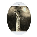 Jesus Crucifixion Scene Ornament (Oval)