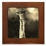 Jesus Crucifixion Scene Framed Tile