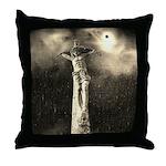 Jesus Crucifixion Scene Throw Pillow
