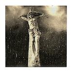 Jesus Crucifixion Scene Tile Coaster