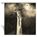Jesus Crucifixion Scene Shower Curtain