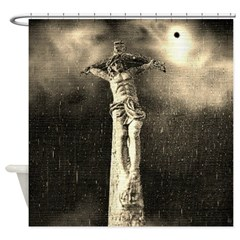 Jesus Crucifixion Scene Shower Curtain