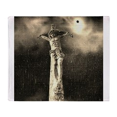 Jesus Crucifixion Scene Throw Blanket