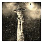 Jesus Crucifixion Scene Square Car Magnet 3