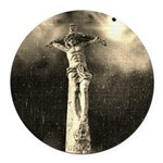 Jesus Crucifixion Scene Round Car Magnet