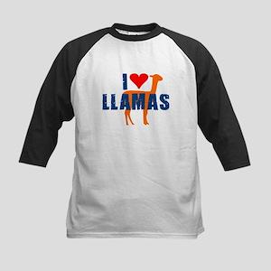 I LOVE LLAMAS SHIRT funny lla Kids Baseball Jersey
