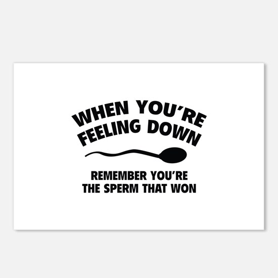 When You're Feeling Down Postcards (Package of 8)